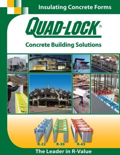 Insulated concrete forms by quad lock icf for walls for Insulated concrete forms pricing