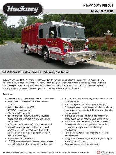 oak cliff fpd heavy duty rescue - Hackney Emergency Vehicles
