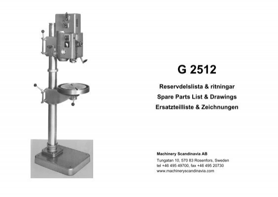 Wswdp270f Drill Press Replacement Parts