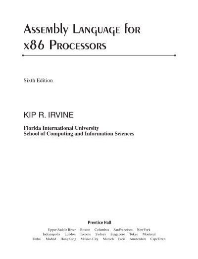 assembly language for x86 processors kip irvine rh yumpu com