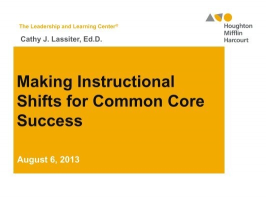 Ocsa Lac O Instructional Shifts Powerpoint