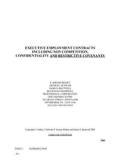 executive employment contracts including non ... - ALI CLE