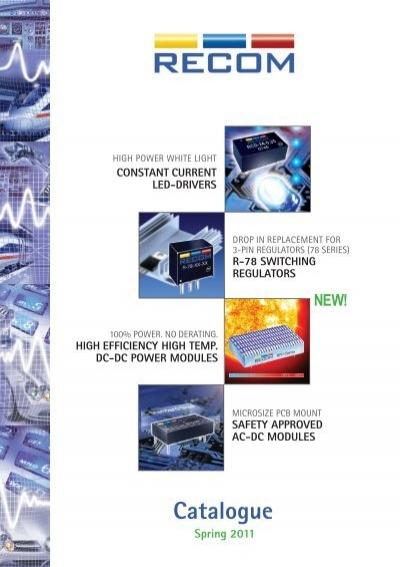 Reg 1w Rac01-3.3 Sc-Recom Power-Ac//dc Convertidor 3.3 v