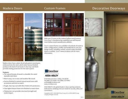 & Decorative Doorways Brochure - Ceco Door Products