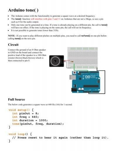 Arduino tone( )