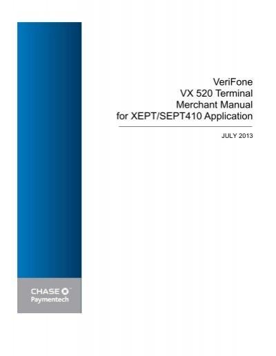 verifone vx 520 terminal merchant manual chase paymentech rh yumpu com
