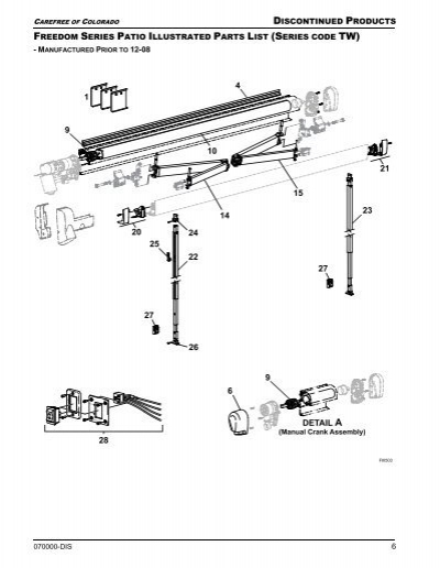 Freedom Tw Illustrated Parts List Carefree Of Colorado