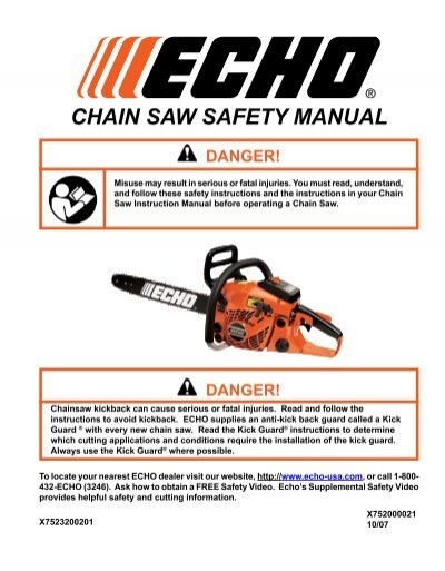 CHAIN SAW SAFETY MANUAL