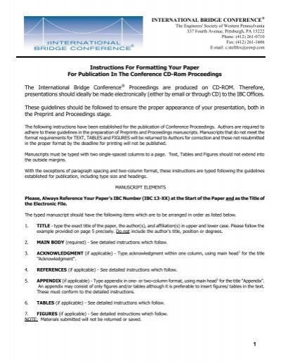 Paper Formatting Guidelines | Paper Formatting Guidelines Eswp