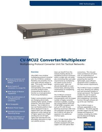 cv-mcu2 converter  multiplexer