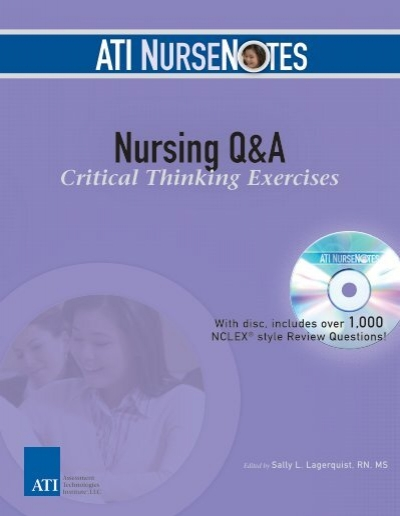 critical thinking nurses exercises Critical thinking in nursing course syllabus  test-taking strategies for student nurses 9  critical thinking exercises.