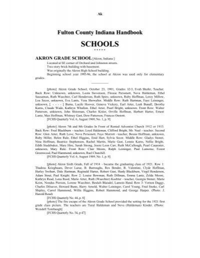 Handbook Schools A-G - Fulton County Public Library