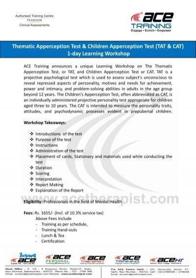 Thematic Apperception Test & Children Apperception Test (TAT & CAT