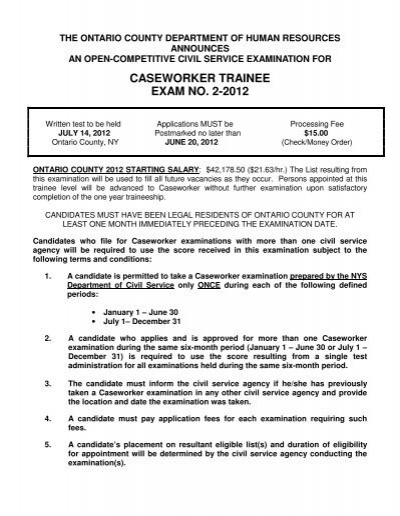 caseworker trainee exam no 2 2012 ontario county rh yumpu com Milwaukee County Probation Officers Probation Officer in Court