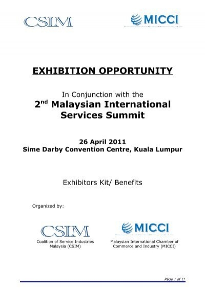 Exhibition Opportunity Malaysian International Chamber Of
