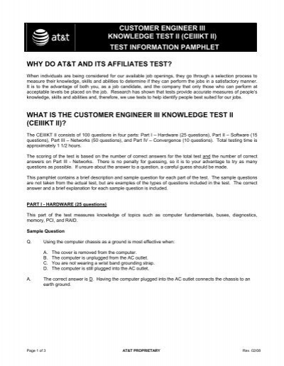 customer engineer iii knowledge test ii ceiiikt ii at t rh yumpu com Science Study Guide Math Study Guide