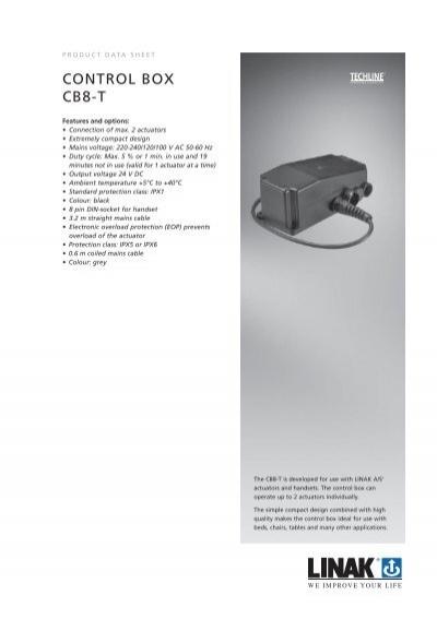 CONTROL BOX CB8-T - Linak