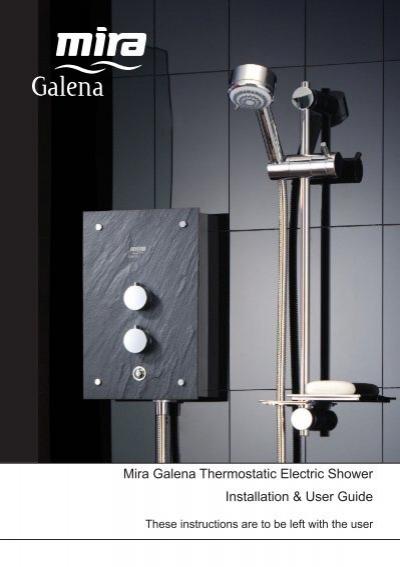 installation user guide mira galena thermostatic electric shower rh yumpu com User Guide VeriFone Vx570 Manual Guide