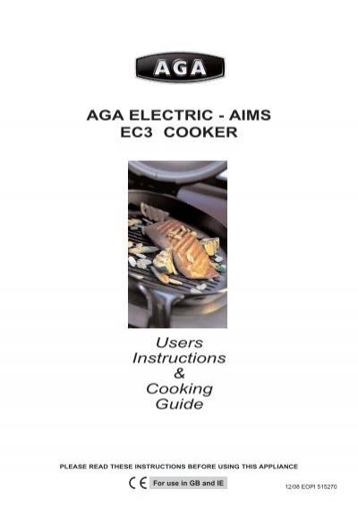 aga electric aims ec3 cooker rh yumpu com