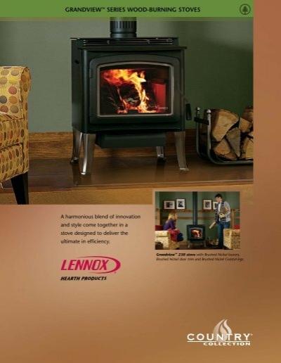 Grandview™ Series Lennox Wood Stove Brochure - Classic Pool . - Gas TGI3