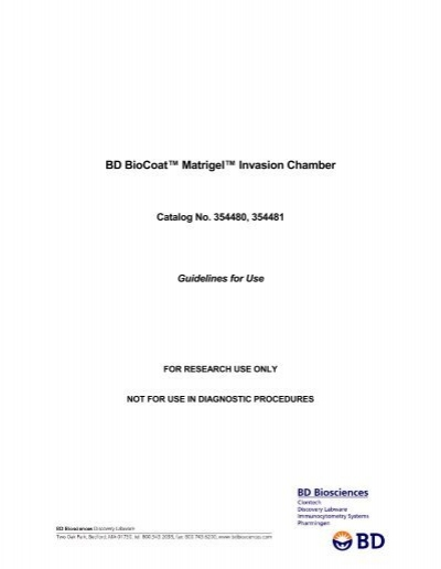BD BioCoat Matrigel Invasion Chamber