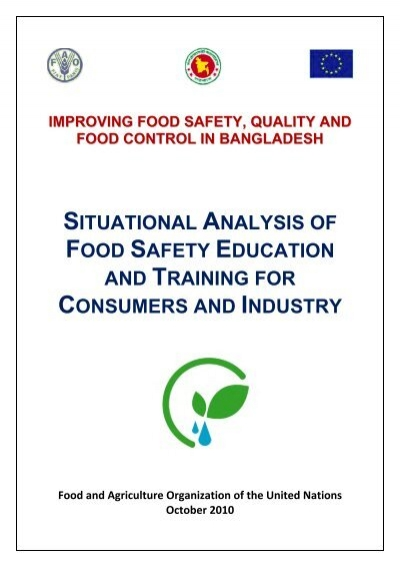 Contents - Food Safety project of FAO of