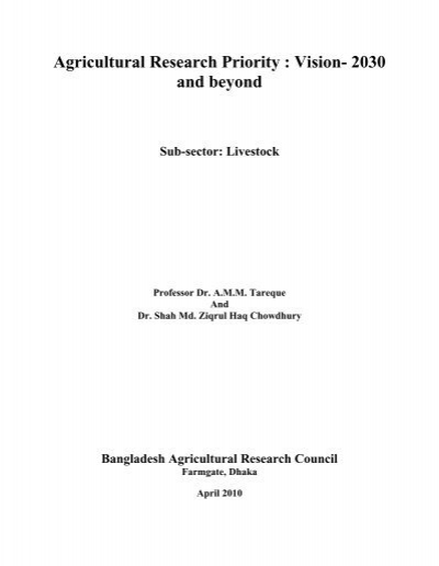 Vision document 2030 and beyond bangladesh agricultural for Document 2030 pdf