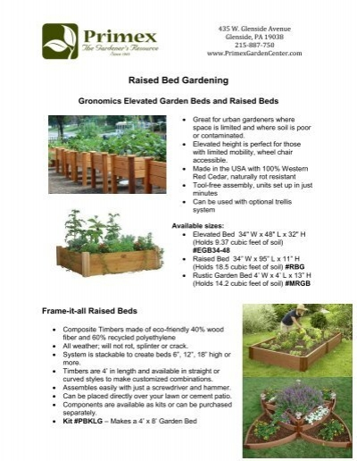 Raised Bed Gardening Products at - Primex Garden Center