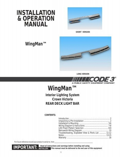 code 3 wingman wiring diagram wiring diagram
