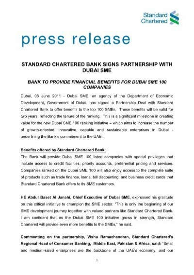 Standard chartered bank signs partnership with dubai sme 41311858g reheart Image collections