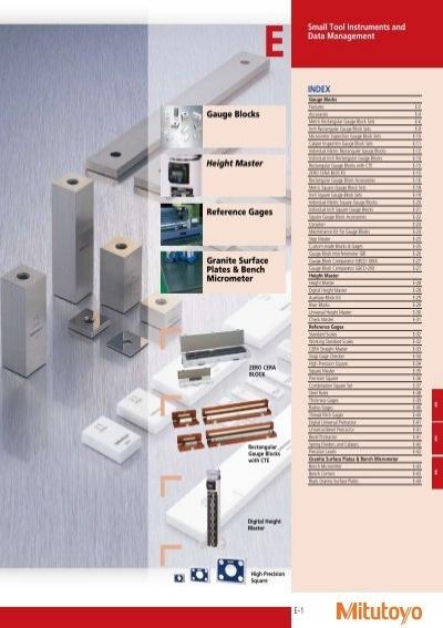 Mitutoyo Steel Rectangular Gage Block 0.2 Length ASME Grade AS-1