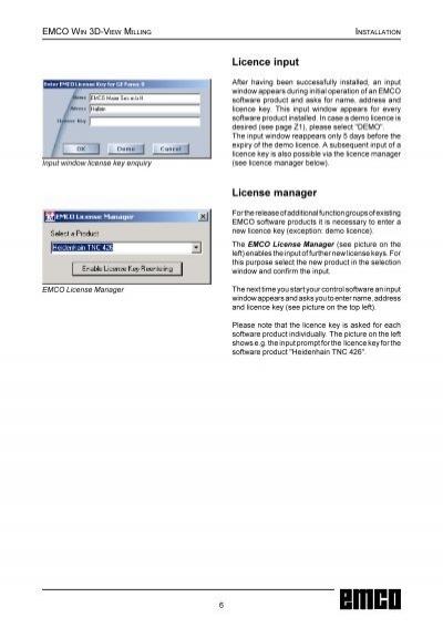 license key emco winnc