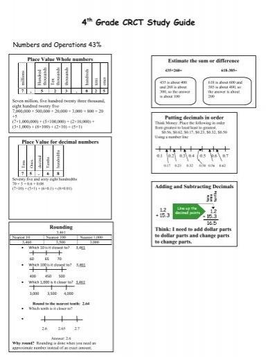 crct study guide 5th grade rh crct study guide 5th grade tempower us