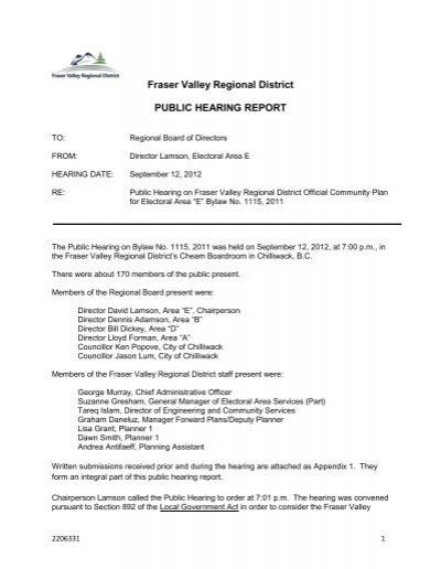 iMANAGE Fraser Valley Regional District