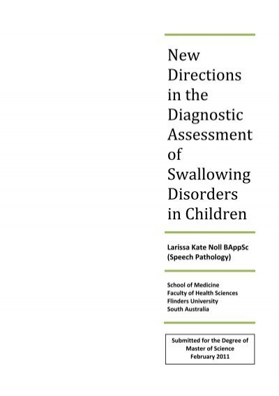 New Directions in the Diagnostic Assessment of Swallowing