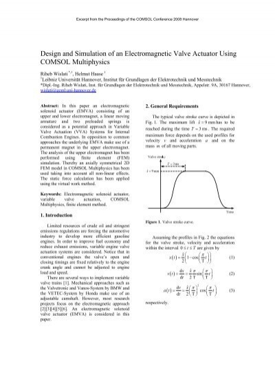 Design and Simulation of an Electromagnetic Valve