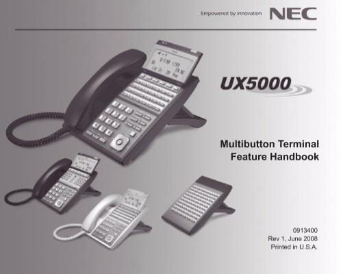 multibutton terminal feature handbook nec ux5000 rh yumpu com NEC Aspire Call Forwarding NEC Aspire Manual Installation