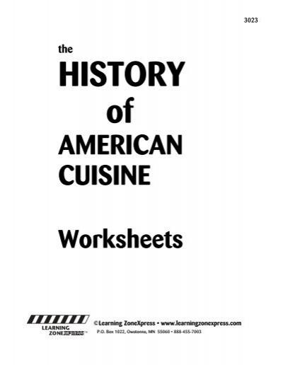 history of american cuisine video
