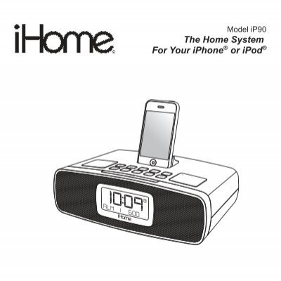 ihome ip90 user manual sample user manual u2022 rh userguideme today iHome iH110 Clock Radio Manual iHome iPod Docking Station Manual