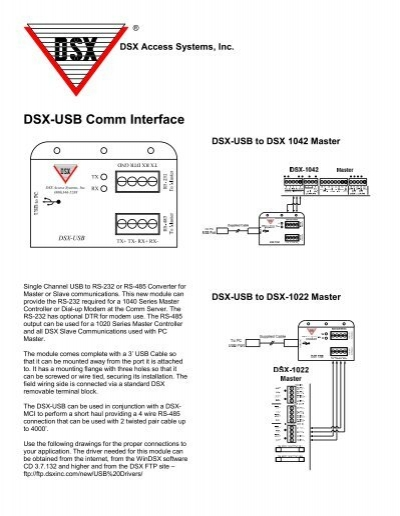 Dsx-usb Comm Interface