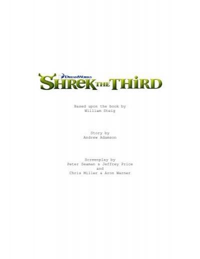 Shrek The Third Final Script Script Joblo Com