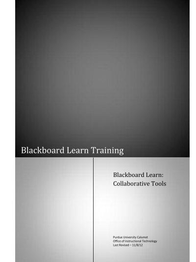 purdue university calumet blackboard
