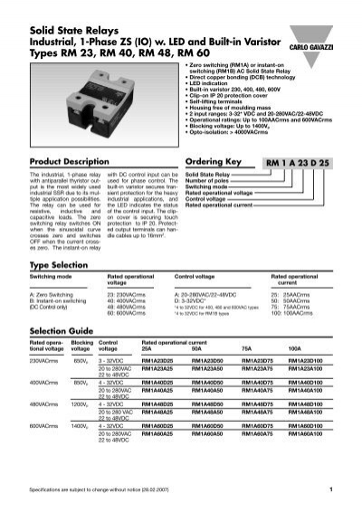 Rm series solid state relays spec sheet durex industries sciox Gallery
