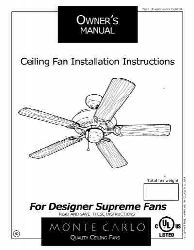 monte carlo ceiling fan wiring diagram  wiring diagram wave