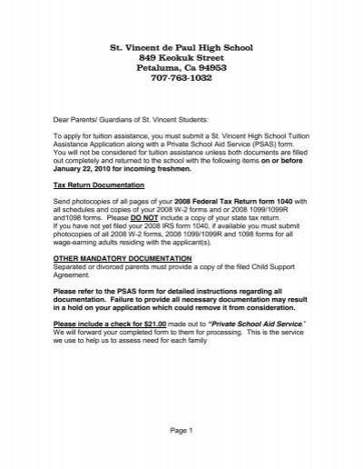 St Vincent De Paul High School 849 Keokuk Street Petaluma Ca