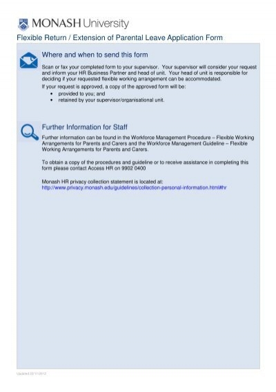 Flexible – Staff Leave Application Form