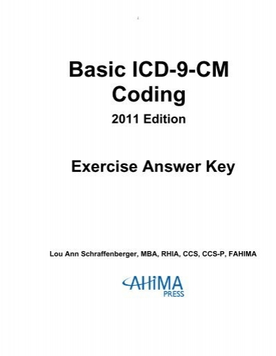 Basic Icd 9 Cm Coding American Health Information Management