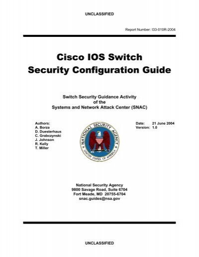 cisco ios switch security configuration guide national security rh yumpu com Cisco 2900 Switch Series Cisco Switch plc Architecture