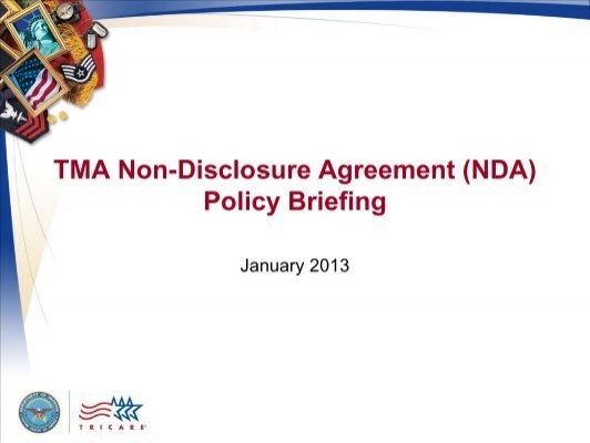 Tma Non Disclosure Agreement Tricare