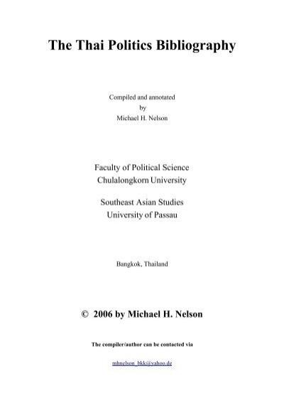 The Thai Politics Bibliography - Universität Passau